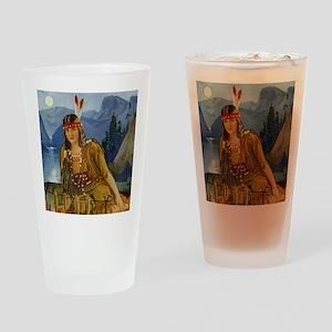 INDIAN MAIDEN Drinking Glass