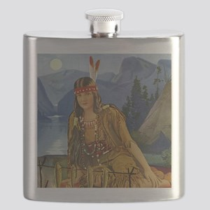 INDIAN MAIDEN Flask