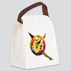 astrolgy-girl-square Canvas Lunch Bag