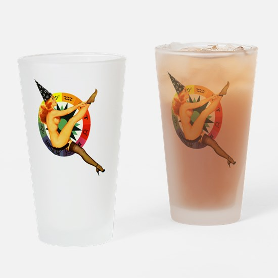 astrolgy-girl-square Drinking Glass