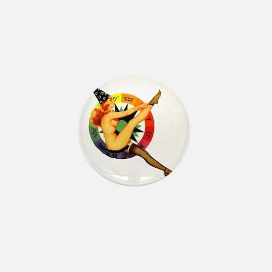 astrolgy-girl-square Mini Button