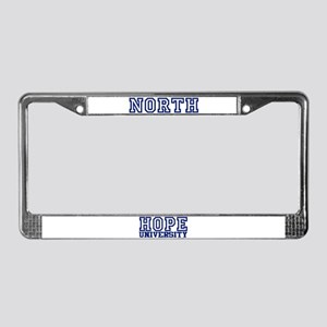 NORTH University License Plate Frame