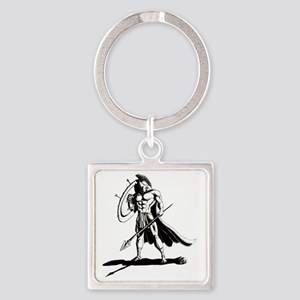 Shield_and_Spear_by_KandyMann Square Keychain