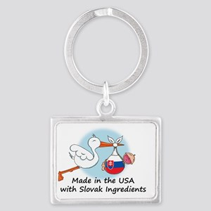 stork baby slov 2 Landscape Keychain