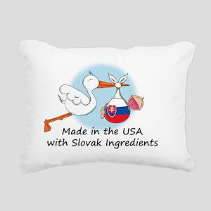 stork baby slov 2 Rectangular Canvas Pillow