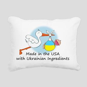 stork baby ukr 2 Rectangular Canvas Pillow