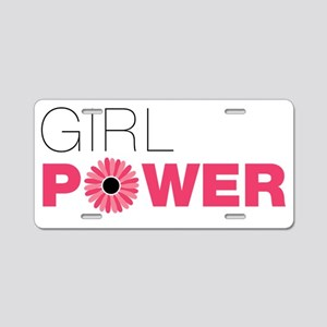 girl-power Aluminum License Plate