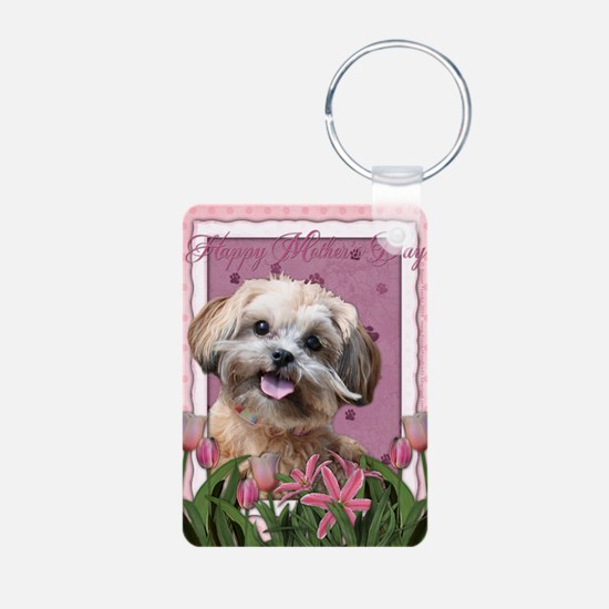 PinkTulips_ShihPoo Keychains
