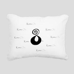 Kumu Ola 2tone Rectangular Canvas Pillow