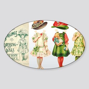 Merry-Mabel-horizontal Sticker (Oval)