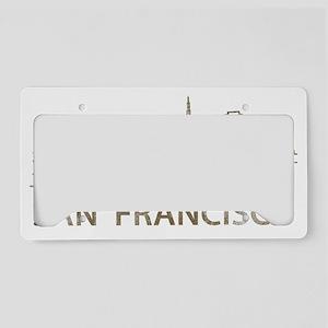 San Francisco2 License Plate Holder