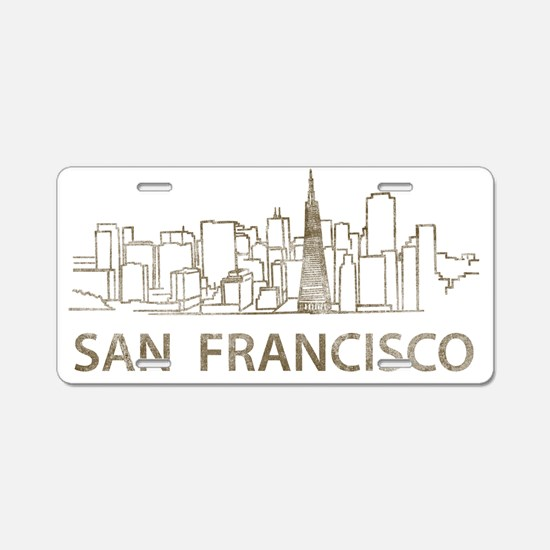 San Francisco2 Aluminum License Plate