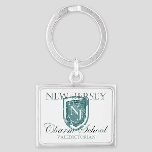 Vintage NJ Charm School Valedic Landscape Keychain