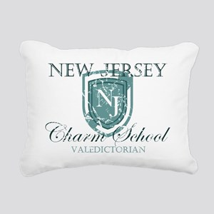 Vintage NJ Charm School Rectangular Canvas Pillow