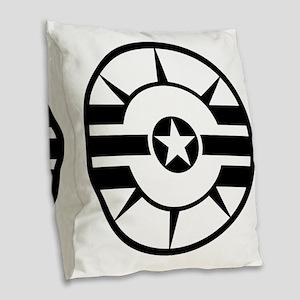CS logo B Burlap Throw Pillow