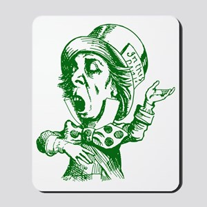 Mad Hatter Green Mousepad