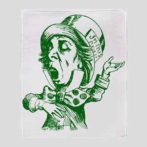 Mad Hatter Green Throw Blanket