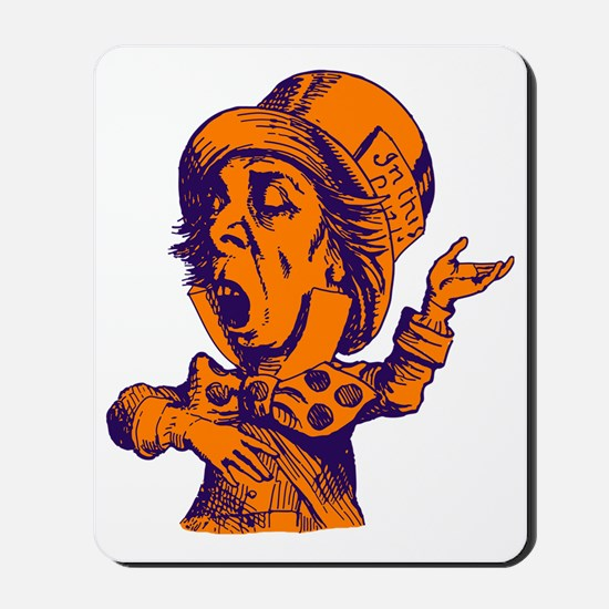 Mad Hatter Purple Orange Mousepad