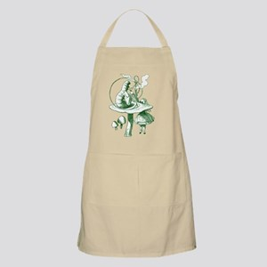 Alice and Caterpillar Green Apron
