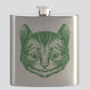 Cheshire Cat Green Flask