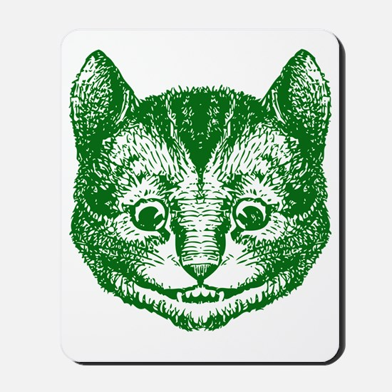 Cheshire Cat Green Mousepad