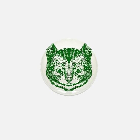 Cheshire Cat Green Mini Button