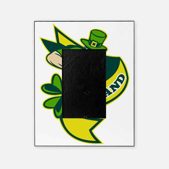 Irish rugby player leprechaun hat sh Picture Frame