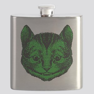 Cheshire Cat Green Fill Flask