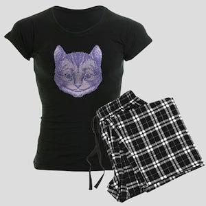 Cheshire Cat Lavender Women's Dark Pajamas