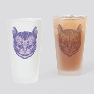 Cheshire Cat Lavender Drinking Glass