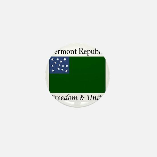 Vermont Republic Freedom & Unity Mini Button