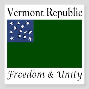 """Vermont Republic Freedom Square Car Magnet 3"""" x 3"""""""