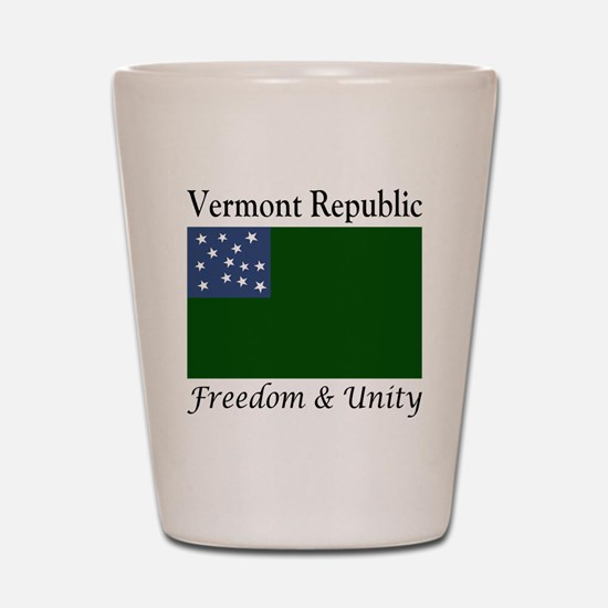 Vermont Republic Freedom & Unity Shot Glass