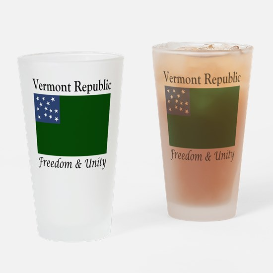 Vermont Republic Freedom & Unit Drinking Glass
