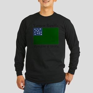 Vermont Republic Freedom  Long Sleeve Dark T-Shirt