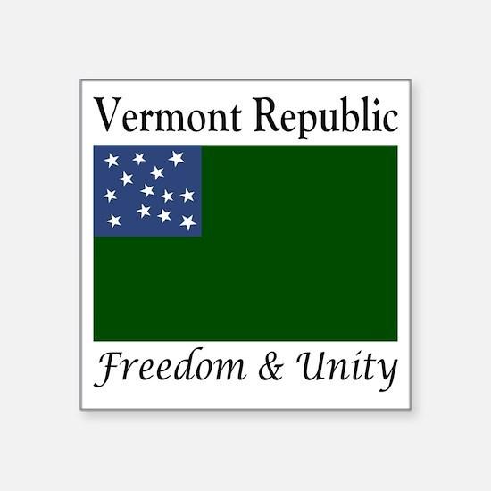 """Vermont Republic Freedom &a Square Sticker 3"""" x 3"""""""