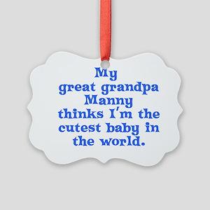 2-grandpa-manny Picture Ornament