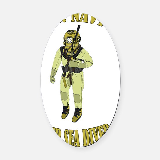 U.S. Navy Deep Sea Diver Oval Car Magnet