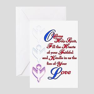 O Come Holy Spirit Greeting Card
