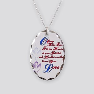 O Come Holy Spirit Necklace Oval Charm