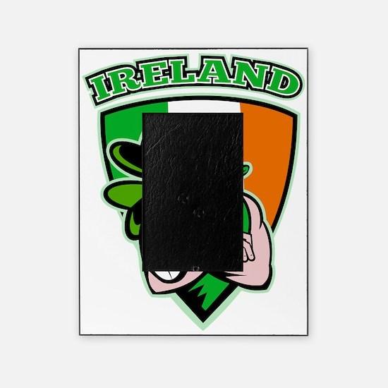 Irish leprechaun rugby player shield Picture Frame