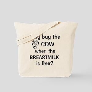whybuythecow_breastmilkfree2 Tote Bag