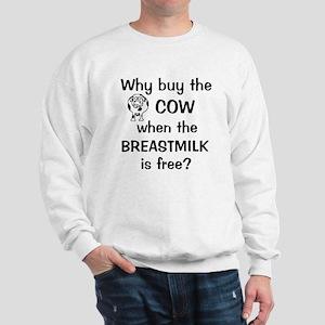 whybuythecow_breastmilkfree2 Sweatshirt