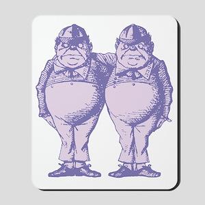Tweedle Dee and Tweedle Dum Lavender Mousepad