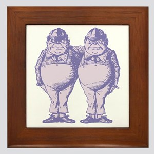 Tweedle Dee and Tweedle Dum Lavender Framed Tile