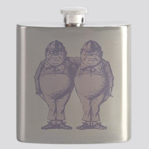 Tweedle Dee and Tweedle Dum Lavender Flask