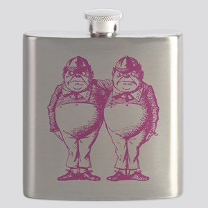 Tweedle Dee and Tweedle Dum Pink Flask