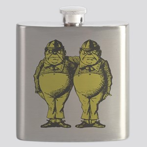 Tweedle Dee and Tweedle Dum Yellow Flask