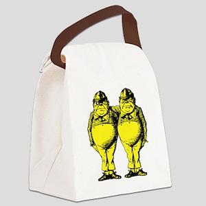 Tweedle Dee and Tweedle Dum Yello Canvas Lunch Bag