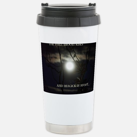 Full Moon Card Stainless Steel Travel Mug